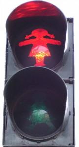 Ampelmädchen rot