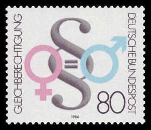 Briefmarke_DBP_1984_1230_Gleichberechtigung